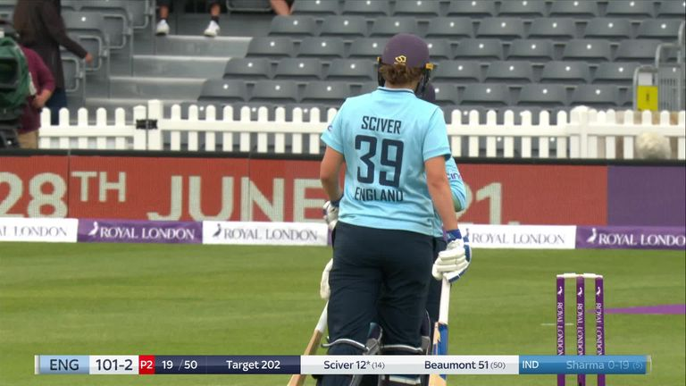 Beaumont has now passed fifty in her last four ODI innings