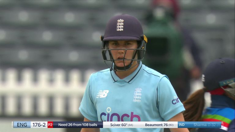 Check out the top shots from Nat Sciver's half-century