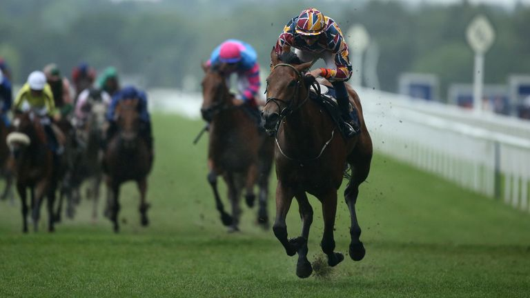 Create Belief ridden by Ben Coen on their way to winning the Sandringham Stakes