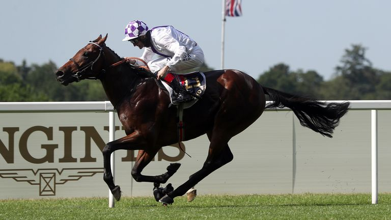 Poetic Flare is clear of his St James's Palace Stakes rivals