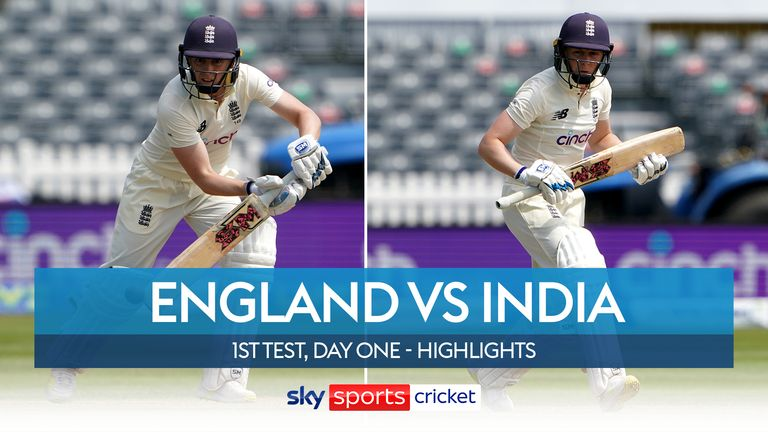 Highlights of day one of the first Test between England Women and India Women from the Bristol County Ground