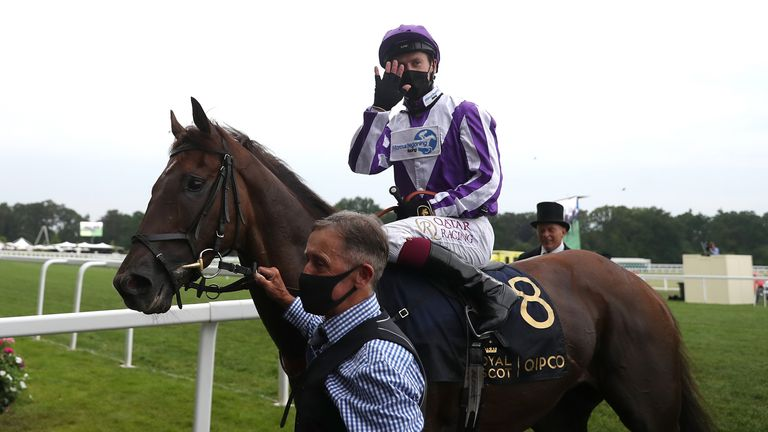 Perotto, ridden by jockey Oisin Murphy, after winning at Royal Ascot