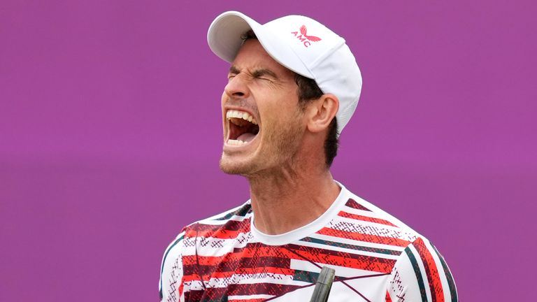 Andy Murray suffered a straight sets defeat to Matteo Berrettini at the cinch Championships at Queen's Club