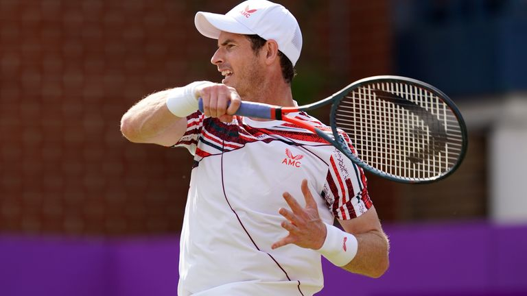 Andy Murray makes superb start to his Queen's Club campaign with victory  over Benoit Paire   Tennis News   Sky Sports