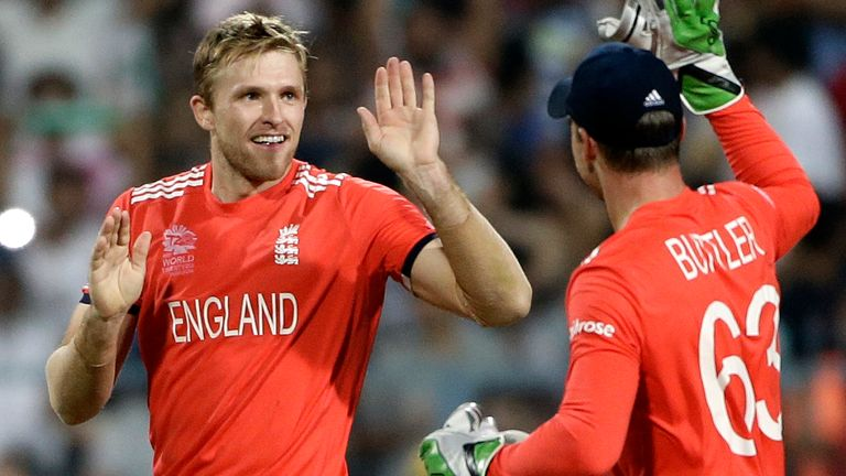 David Willey was part of the England side that reached the final of the 2016 World T20
