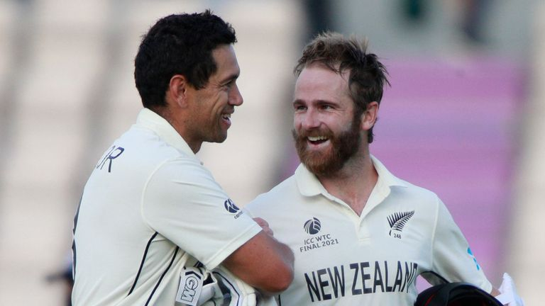 Kane Williamson and Ross Taylor shared a 96-run stand as New Zealand sealed an eight-wicket win over India in the World Test Championship Final