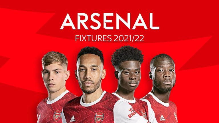 Arsenal Fixtures 2021/22