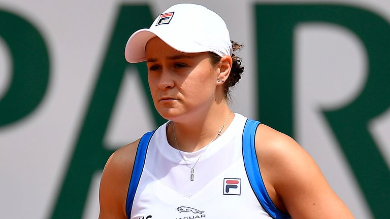 """Ashleigh Barty shed tears over the """"heartbreaking"""" injury that brought a premature end to her French Open campaign"""