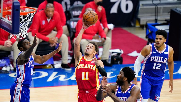 Highlights of the second game in the Eastern Conference semi-finals between the Atlanta Hawks and the Philadelphia 76ers.