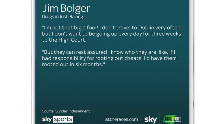Jim Bolger: Coach invited to Irish parliamentary committee to 'substantiate or put to bed' doping allegations |  Race News