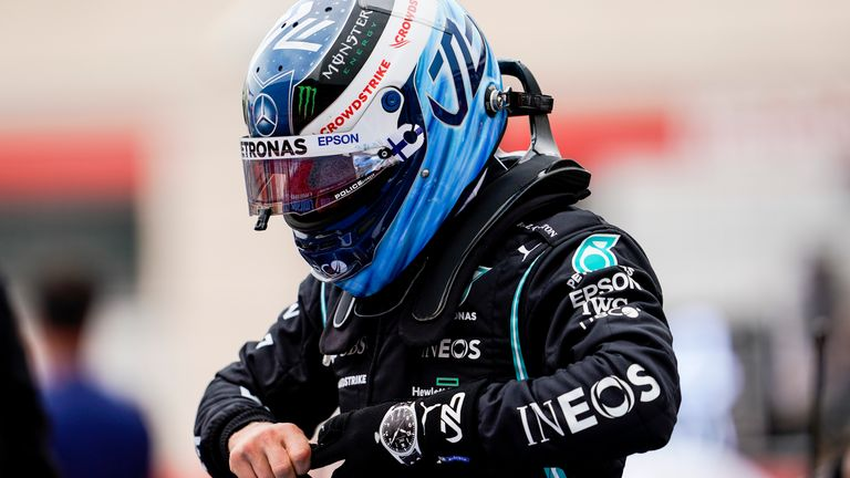 June 20, 2021, Le Castellet, France: VALTTERI BOTTAS of Finland and Mercedes-AMG F1 Team is seen on the starting grid ahead of the 2021 FIA Formula 1 French Grand Prix at Circuit Paul Ricard in Le Castellet, France.