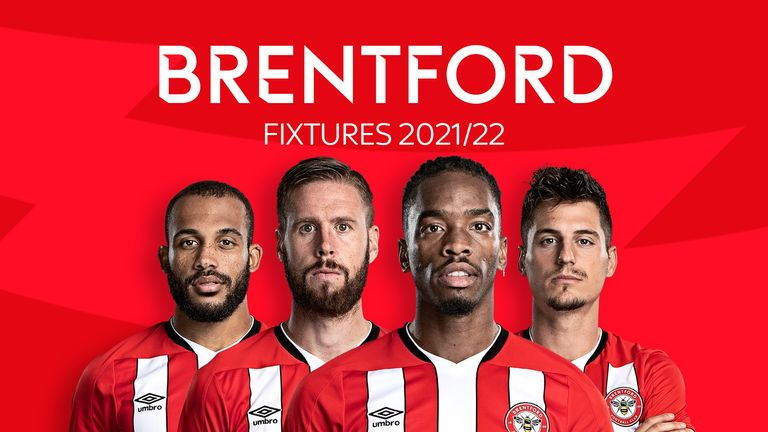 Brentford Fixtures 2021/22