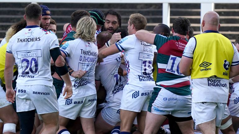 All Bristol and Leicester players have avoided sanction following a brawl at full-time on Saturday
