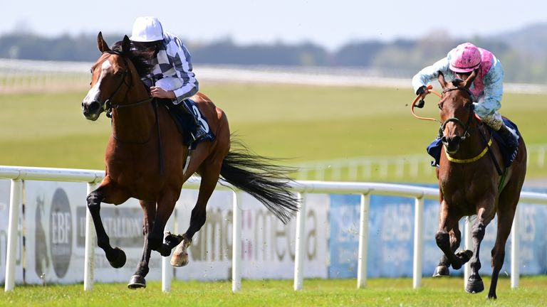 Broome wins the Group Two Mooresbridge Stakes at the Curragh
