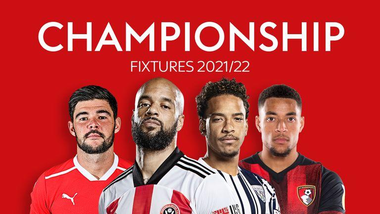 Sky Bet Championship Fixtures 2021/22