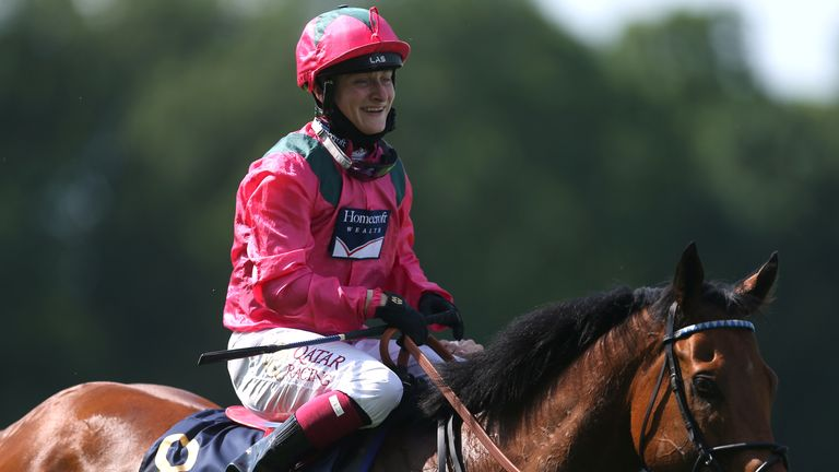 Fallon is all smiles after victory in the King's Stand Stakes at Royal Ascot on Oxted