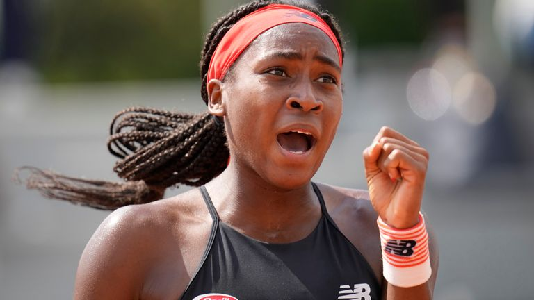 Gauff reached her first Grand Slam quarter-final at the French Open