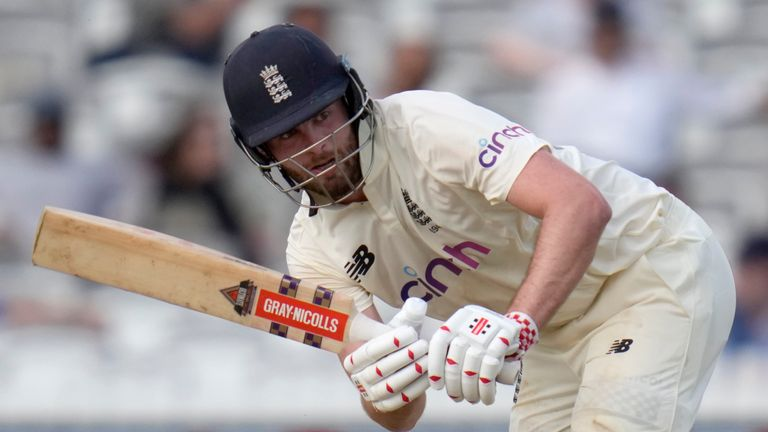 Dom Sibley batted for more than five hours to finish unbeaten on 60 in the first Test at Lord's