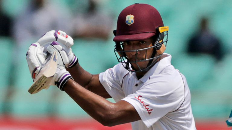 Kieran Powell scored 51 at the top of the order for West Indies before becoming the first of Keshav Maharaj's five victims
