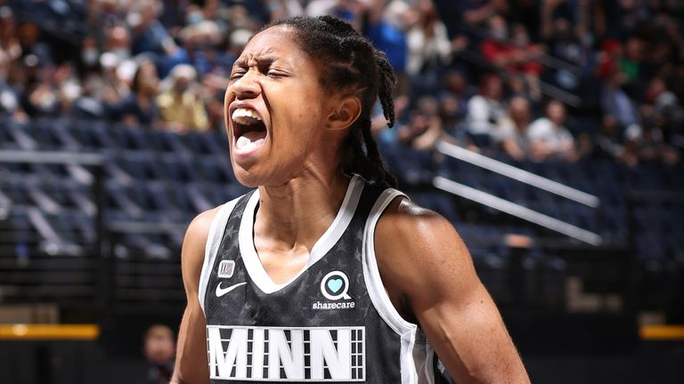 Crystal Dangerfield starred from the bench for Minnesota