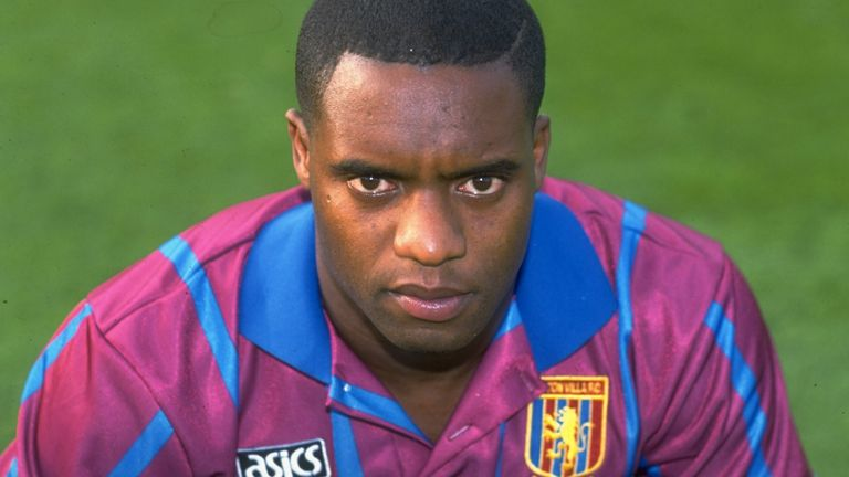Dalian Atkinson pictured in 1993 during his time with Aston Villa