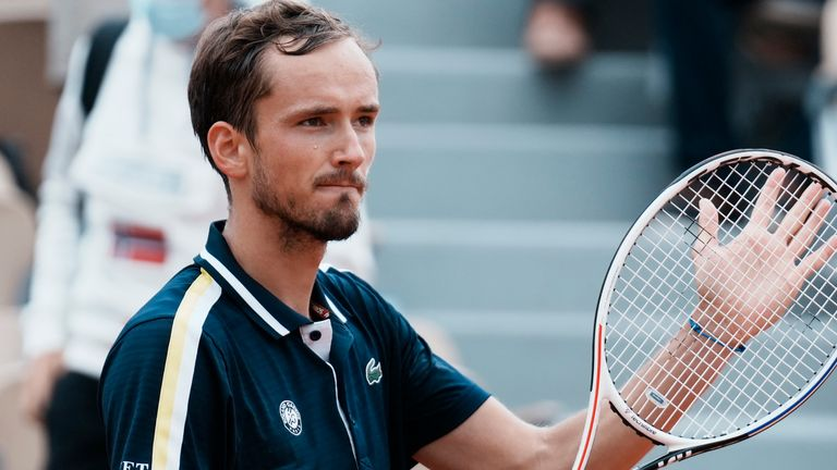 Daniil Medvedev held an 0-4 record at Roland Garros prior to this year, but was rock-solid against Reilly Opelka as he continued his bid to rise to No 1 in the ATP rankings