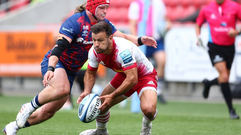 Danny Care looks to offload the ball