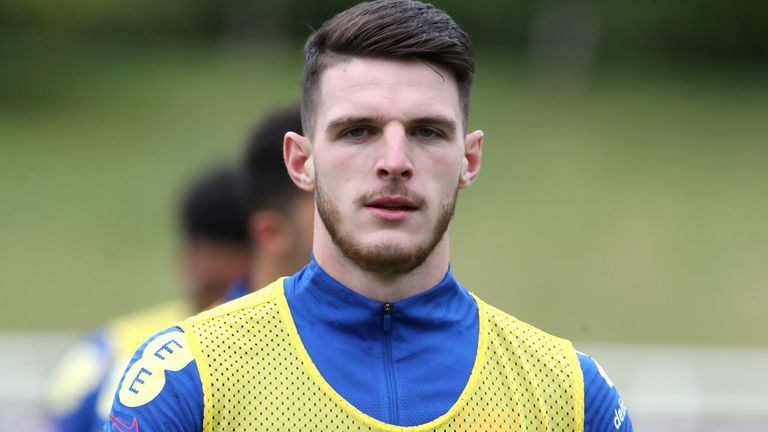 England midfielder Declan Rice (PA)