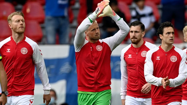Kasper Schmeichel and the rest of the Denmark side returned to finish their Euro 2020 game against Finland despite team-mate Christian Eriksen collapsing