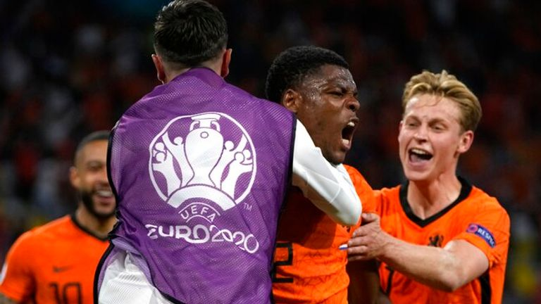 Denzel Dumfries scored Netherlands' late winner after the hosts were pegged back by Ukraine in Amsterdam