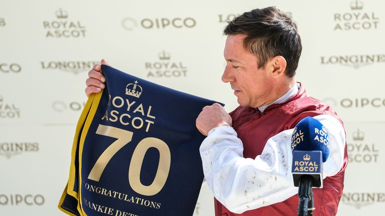 Dettori has ridden 73 Royal Ascot winners, with his first coming back in 1990