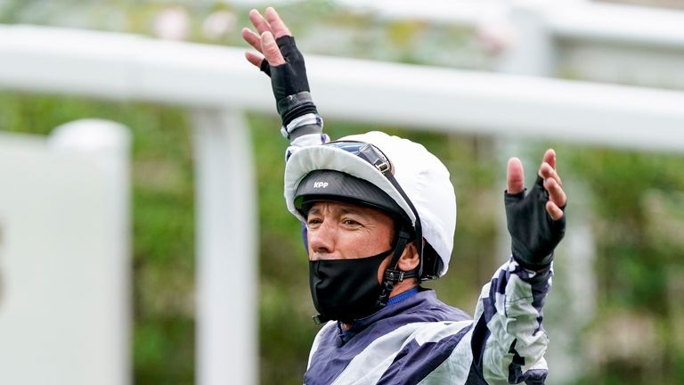 Dettori celebrates after victory on Alpine Star at Royal Ascot last year