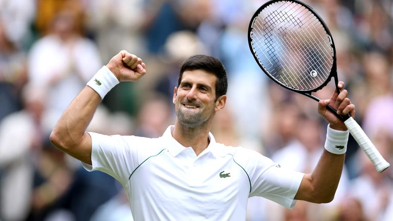 Novak Djokovic continued his bid for a third consecutive Wimbledon title with a dominant second-round display