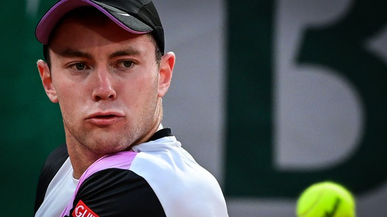 Former American college player Koepfer gave Federer a fright on an empty and eerie Court Philippe Chatrier