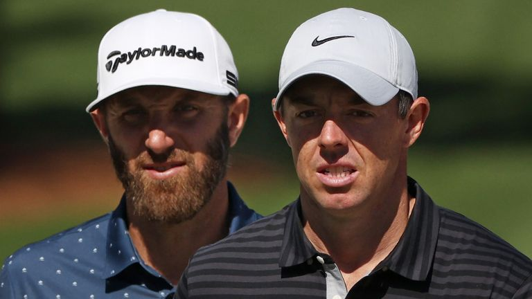 Dustin Johnson has been grouped with Rory McIlroy and Justin Rose for the third men's major of the year