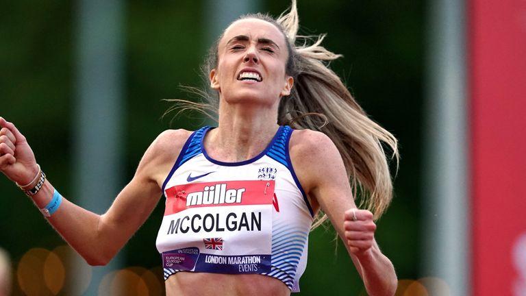 Eilish McColgan won the women's race in Birmingham