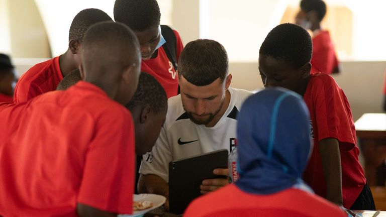 Emiliano Marcondes visiting the Right To Dream academy in Ghana