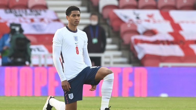 England players were booed by some sections of the crowd when they took the knee against Austria