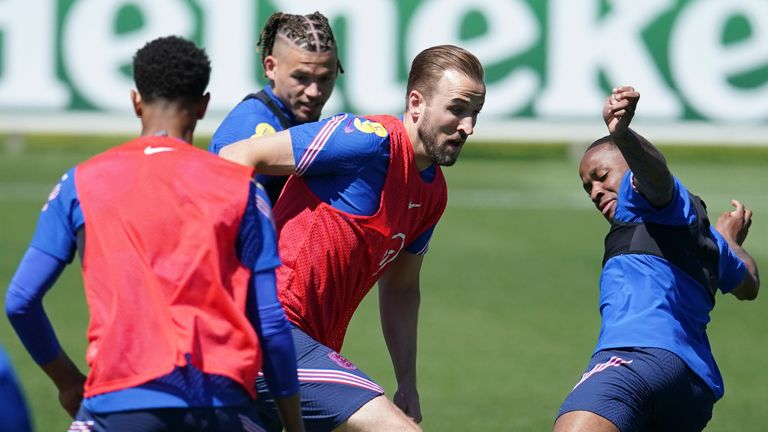 England players take part in training ahead of their Croatia opener at Euro 2020