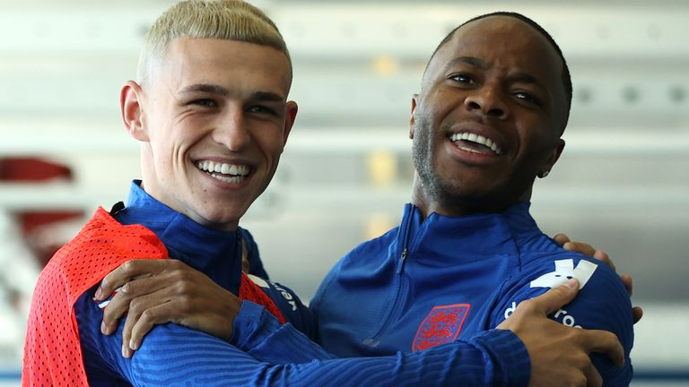 Phil Foden and Raheem Sterling