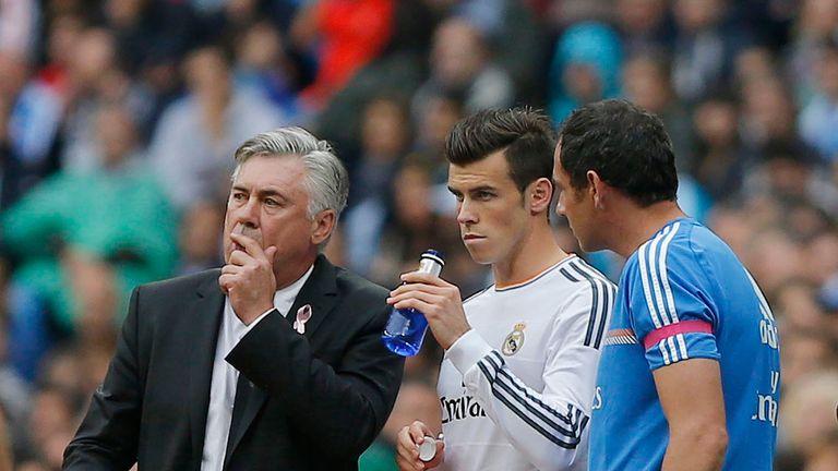 Carlo Ancelotti, Gareth Bale (AP)