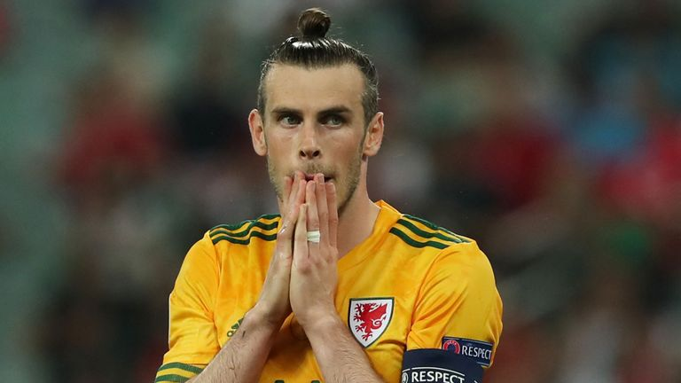 Gareth Bale reacts after missing a penalty in Wales' Group A clash with Turkey