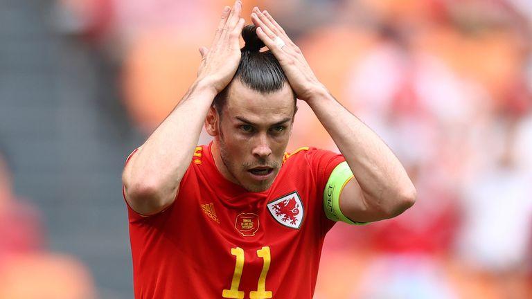 Gareth Bale shows his frustration against Denmark