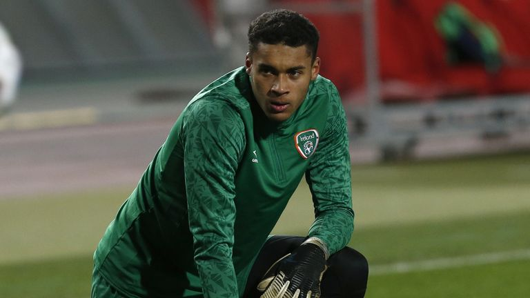 Gavin Bazunu, who turned 19 in February, is the youngest keeper ever to play senior football for the Republic of Ireland