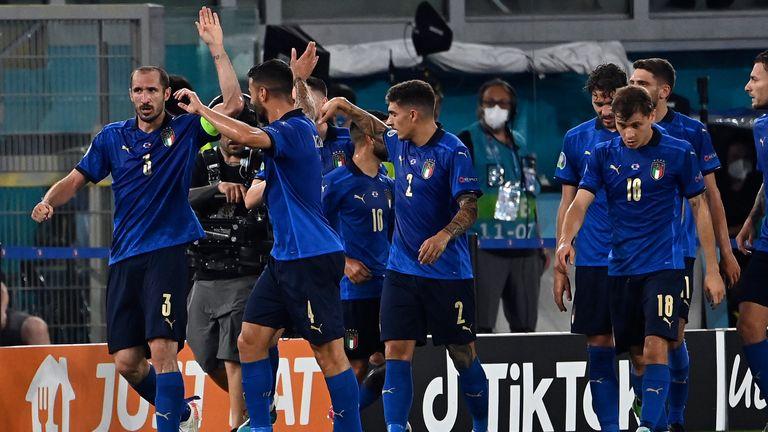 Giorgio Chiellini's goal was ruled out for handball