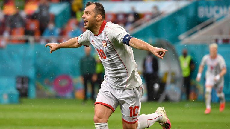 Goran Pandev scored North Macedonia's first Euros goal