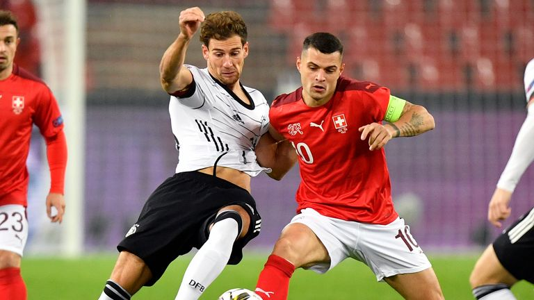 Granit Xhaka has not always played in midfield this season at Arsenal