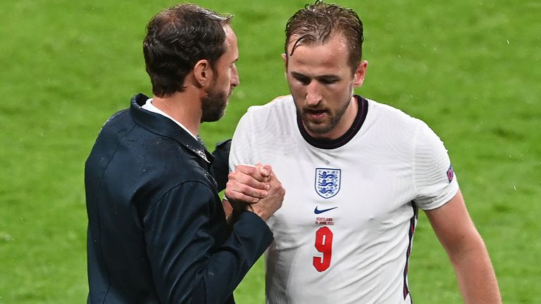 Harry Kane was substituted by Gareth Southgate in the second hald