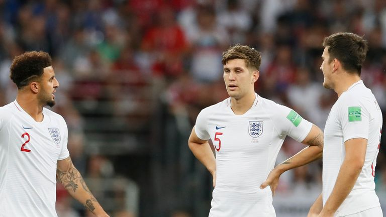 Kyle Walker, John Stones and Harry Maguire played as a back three in England's run to the 2018 World Cup semi-finals