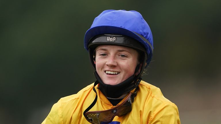 Doyle is all smiles after victory on Stag Horn at Pontefract